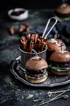 Juicy and frangrant lamb sliders with sweet beetroot relish, labneh tzatziki on toasted brioche buns! Anisa Sabet | The Macadames | Food Styling | Food Photography | Props | Moody | Food Blogger | Recipes