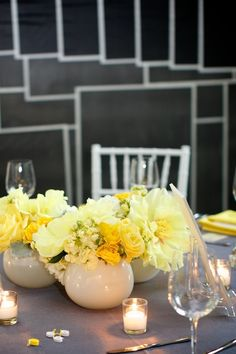 Simply Jessie Photography. Vale of Enna flowers. Peony. Stock. Hydrangea. Spray Rose. Yellow and White. Centerpiece. Chicago Wedding.