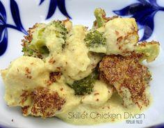 Paleo Skillet Chicken Divan on www.PopularPaleo.com   Grain-free, gluten-free…