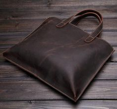 Vintage Style Genuine Leather Shoulder Bag, Messenger Briefcase ZB02