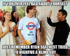 If you ever feel bad about yourself, just remember Ryan Seacrest tried to high five a blind guy...