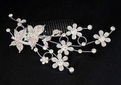 Svatební štrasová bižuterie do vlasů motýlci 5710-2 | Bižuterie Kozák