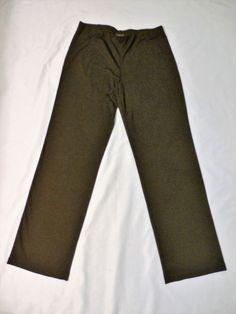 NWOT EILEEN FISHER Sz M DARK BROWN STRETCH STRAIGHT LEG COMFORT PANTS…