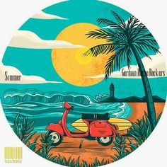 Celebrating this crazy summer with a brand new GHR single perfect for beach lounging. Car Drawings, Aesthetic Stickers, Cute Stickers, Art Sketches, Vector Art, Watercolor Art, Illustration, Pop Art, Street Art