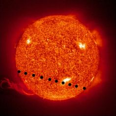 planet Venus transits across the Sun ... june 5, 2012 ... astronomical wonders ...
