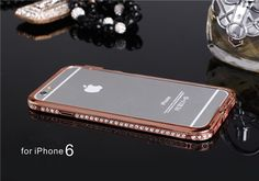 Metall Bumper mit Diamanten für iPhone 6/6 Plus - spitzekarte.com