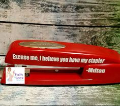 Make A Few More For A Christmas Gift. | Office Space Red Stapler |  Pinterest | Stapler And Office Spaces