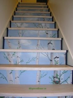 Turn Your Stair Risers into a Gorgeous Forest