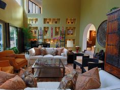 Eclectic Living-rooms from Christopher J. Grubb on HGTV... wow beautiful colors