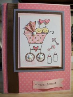 Twins card using baby bundle