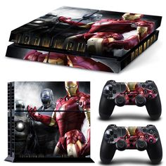 Decal Skin Ps4 console Cover For Playstaion 4 Console PS4 Skin Stickers+ 2Pcs Controller Protective Skins #TN-PS4-0035 #4_Console, #ps4