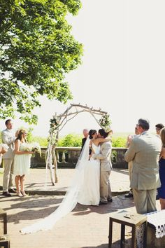 #20 #Waterford #Connecticut #Wedding #Ceremony #Bride #Groom #Kiss