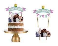 Secret life of Pets Cake Topper, Secret life of Pets Cake Topper Set, Secret life of Pets Cupcake To 2 Birthday, Animal Birthday, 2nd Birthday Parties, Dog Themed Parties, Pets Movie, Animal Cupcakes, Secret Life Of Pets, Puppy Party, Drip Cakes