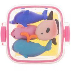 Marine Animal Bento Box Erasers Pink