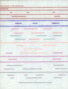 Christopher Knowles  Typing-100  n.d.  typing on paper  11 x 81/2 inches