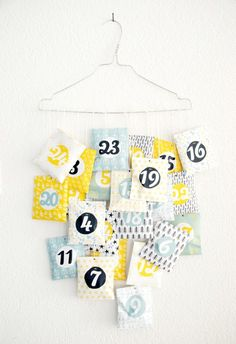 Free printable Advent Calendar, designed by Océchou