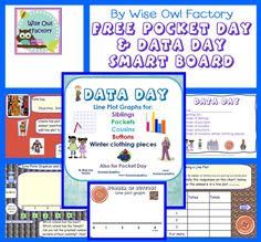 FREE, Pocket Day and Data Day, free, graphing, math, line plot, bar graphs