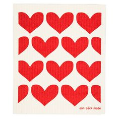 Printed with water based ink.Use the code TRASA at checkout and you get 3 dishcloths for Ann, Hearts, Retro, Printed, Design, Prints, Retro Illustration