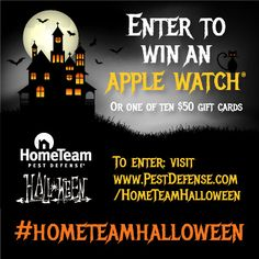 I entered @PestDefense #HomeTeamHalloween to win an Apple Watch®! So can you! Rules