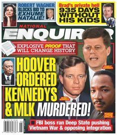 Get National Enquirer digital magazine subscription today for the latest scandals and gossip, revealing photos, and real life stories. Martin King, Martin Luther King, Enquirer Magazine, Calvin Johnson, National Enquirer, Robert Kennedy, King Jr, Brad Pitt