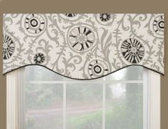 Victor Mill Soho Shaped Valance by VICTOR MILL. $33.19. Made in USA. Shaped valance. 100-Percent cotton. Very contemporary and funku print on the natural background in black and shades of gray featuring wheels. Will be a great window treatment to any room.