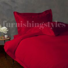 RED COLOUR T200 EGYPTIAN COTTON FITTED SHEETS FLAT SHEETS PILLOW CASES