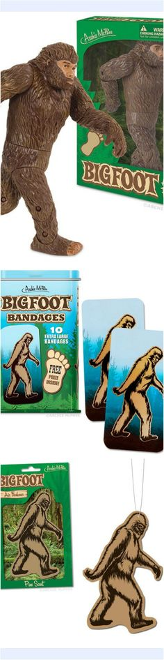 BIGFOOT figure, bandages and air freshener. SHOP at https://www.theurbantreehouse.com/search?q=bigfoot