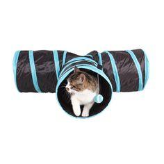 3 WAY Y Shape Có Thể Gập Lại Pet Puppy Animal Cát Kitten Chơi Đồ Chơi Tập Thể Dục Đường Hầm Cave Cát Đồ Chơi