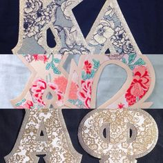 How pretty are these!? These fabrics are not in our letter design center yet…