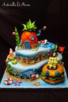 Spongebob tiered cake