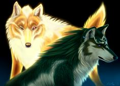 The Legend of Zelda: Twilight Princess - Hero's Shade (in his wolf form) and Wolf Link