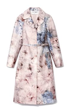 e8cac3b4bb3 Shop Printed Silk-Blend Mikado Trench Coat by Valentino Now Available on  Moda Operandi (Would be so cute with short blond hair