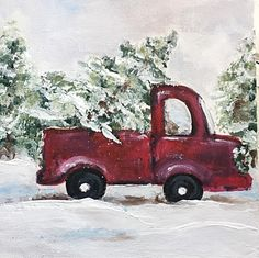 Just for you ! 3d Christmas, Christmas Canvas, Christmas Paintings, Christmas Pictures, Christmas Projects, Vintage Christmas, Xmas, Christmas Truck, Christmas Signs
