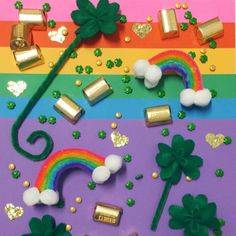 Surprise Your Kids with DIY Lucky Charms for St. Patrick's Day | Martha Stewart Living - According to Irish folklore, leprechauns are known for mending shoes and leaving behind their hidden treasure! (Sure, a little strange, but still fun!) Going along with this St. Patrick's Day tradition, surprise your kids with their own set of lucky charms.