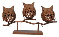 Sunset Vista Designs Harvest Blessings Owls Candle Holders will bring a bit of glow to your Halloween decorating.