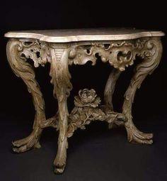 Classic console in Venetian style Antique Console Table, Antique Furniture, Iron Decor, Wood Art, Entryway Tables, Restoration, Furniture Design, Decorative Boxes, Antiques