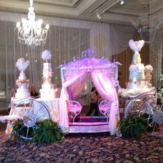 Cute display of wedding cakes