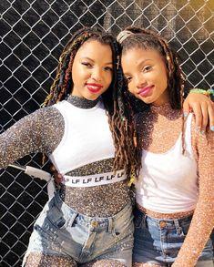 Chloe x Halle Black Girl Magic, Black Girls, Chloe Halle, Girls Braids, My Black Is Beautiful, Stylish Hair, Celebs, Celebrities, Photography Women