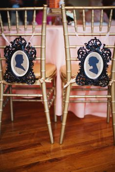 Silhouette wedding decor- just saw bright pink and greenplastic frames similar to this at the dollar store.  Spray paint black, cut out silhouette of the couple and frame....on burlap perhaps...