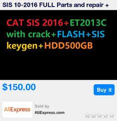SIS 10-2016 FULL Parts and repair + Flash 2015+HDD500GB+SIS keygen+ ET 2015C with Crack( unlimited installation) for cat * Pub Date: 12:10 Apr 10 2017