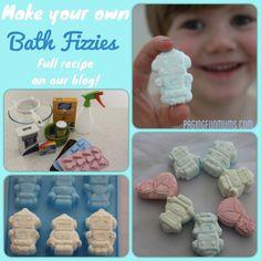 DIY Bath Fizzies! Great for bath time FUN!