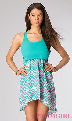 High Low Sleevless Dress at PromGirl.com