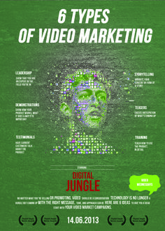 6 types of video marketing #infografia #infographic