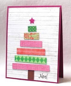 Noel by Laura ODonnell - Cards and Paper Crafts at Splitcoaststampers Chrismas Cards, Merry Christmas Card, Noel Christmas, Xmas Cards, Holiday Cards, Holiday Fun, Christmas Sewing, Christmas Crafts For Kids, Christmas Decorations
