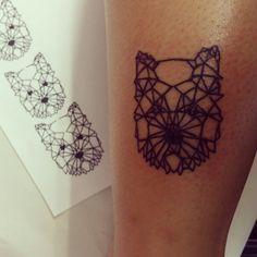Wendy #dog #westy #westie #tattoo #design #geometric