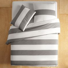 West Elm Striped Bedding. Inspiration for my new bedspread!