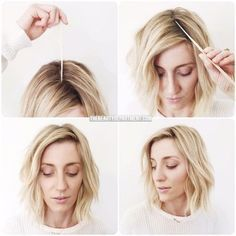 Try this unique way to side part your hair.