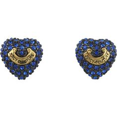 Juicy Couture - Pave Heart Banner Stud Earring | Zappos