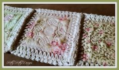 """Beautiful fabric and crochet blend to create a stunning quilt that will make your heart smile. Be careful! This """"Fusion Quilt"""" and its construction are addicting! Use up your scraps and make what was                                                                                                                                                       More"""