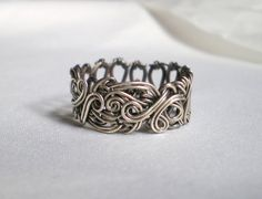 Sterling Silver Ring with Antique Look size by blackcurrantjewelry, $65.00